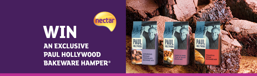 Win limited edition bakeware with Paul Hollywood mixes