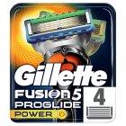Gillette Fusion Proglide Power Razor Blades x4