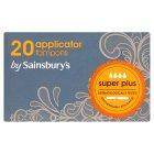 Sainsbury's Tampons, Applicator Super Plus x20