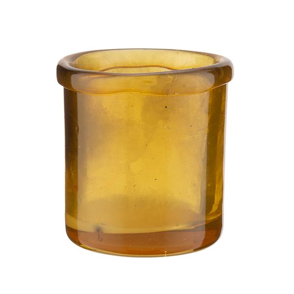 Habitat Artisan Yellow Glass Tea Light Holder Sainsbury S