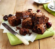 Thumbnail image for Chocolate and cherry brownies recipe on Sainsbury's Online
