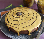 Thumbnail image for Chocolate and orange spider-web cake recipe on Sainsbury's online