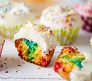 Thumbnail image for rainbow cupcakes recipe.