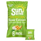 Image for Walkers Sunbites Sour Cream & Black Pepper Crisps 6x25g from Sainsbury's