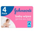 Johnson's Baby Gentle All Over 4 Packs 224 Baby Wipes