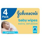 Johnson's Baby Extra Sensitive 4 Packs 224 Baby Wipes
