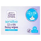 Sainsburys Little Ones Fragrance Free 12 Packs 64 Baby Wipes