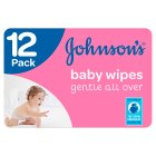 Johnson's Baby Gentle All Over Wipes 12 Pack 672 Baby Wipes