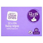 Sainsburys Little Ones Fragranced 12 Packs 64 Baby Wipes
