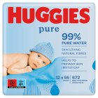 Huggies Pure Baby Wipes Fragrance Free 12 Pack 672 Wipes