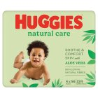 Huggies Natural Care Baby Wipes Fragranced 4 Pack 224 Wipes