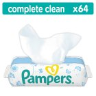 Pampers Complete Clean Baby Fresh Scent Wipes 64 Wipes