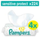 Pampers Sensitive Protect Baby Wipes 224 Wipes