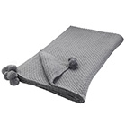 Image for Sainsbury's Home Nordic Skies Grey Knitted Pom Pom Throw 150x200cm from Sainsbury's