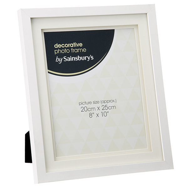 close image for sainsburys white double mount picture frame 8x10 from sainsburys - Double Frame