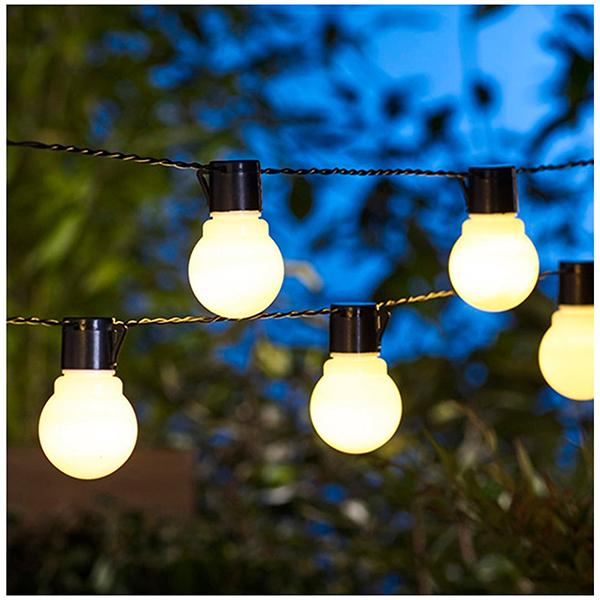 sainsbury s home 20pk solar festoon lights clear sainsbury s