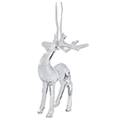 Image for Sainsbury's Christmas Clear Glass Effect Stag Hanging Decoration from Sainsbury's