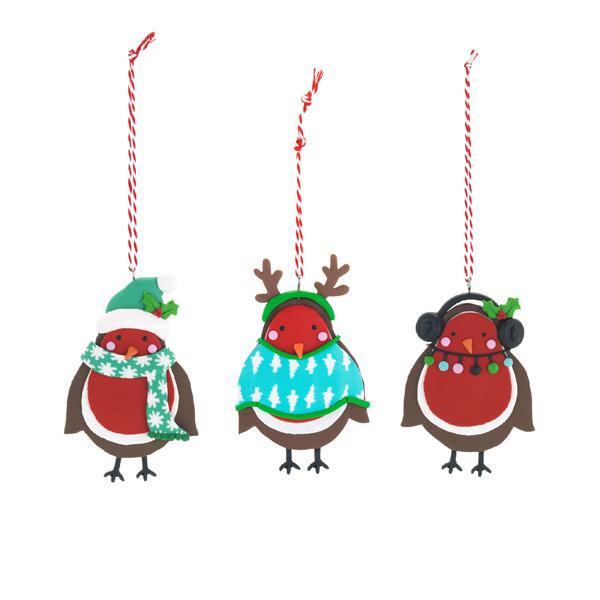Robin Christmas Decoration Sainsburys