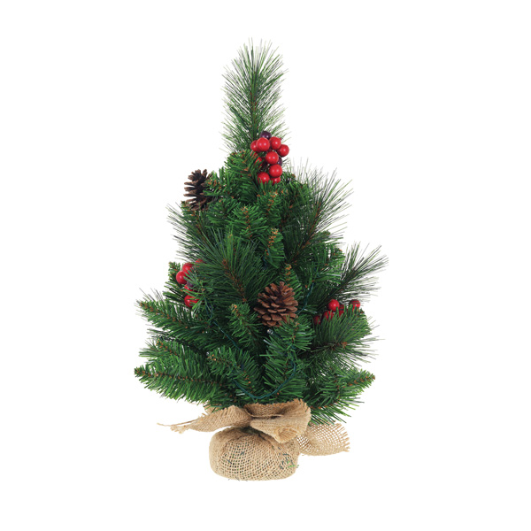 Close Image for Sainsbury's Christmas Traditional Hessian Tree with Lights  1.5ft from Sainsbury's - Sainsbury's Christmas Traditional Hessian Tree With Lights 1.5ft
