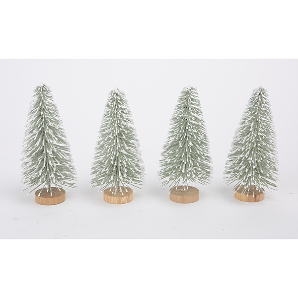 Close Image for Sainsbury's Christmas Snowy Trees Decoration x4 from  Sainsbury's - Sainsbury's Christmas Snowy Trees Decoration X4 Sainsbury's