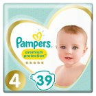 Pampers Premium Protection Size 4 Pack 39 Nappies
