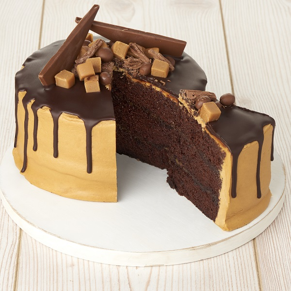 Close Image For Sainsburys Salted Caramel Drip Cake 1kg From