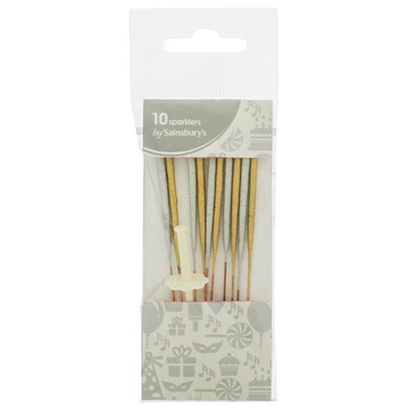 Close Image For Sainsburys Home Silver Gold Sparklers X10 From