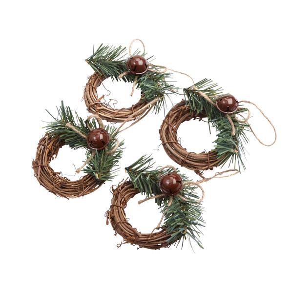 Sainsbury S Home Rustic Wreath Napkin Rings X4 Sainsbury S
