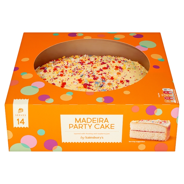 Close Image For Sainsburys Madeira Party Cake 888g Serves 14 From