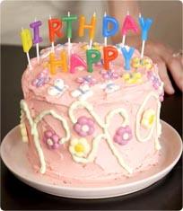 Flower Power Birthday Cake