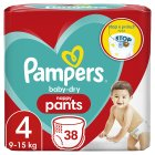 Pampers Baby Dry Size 4 Essential Pack 38 Pants