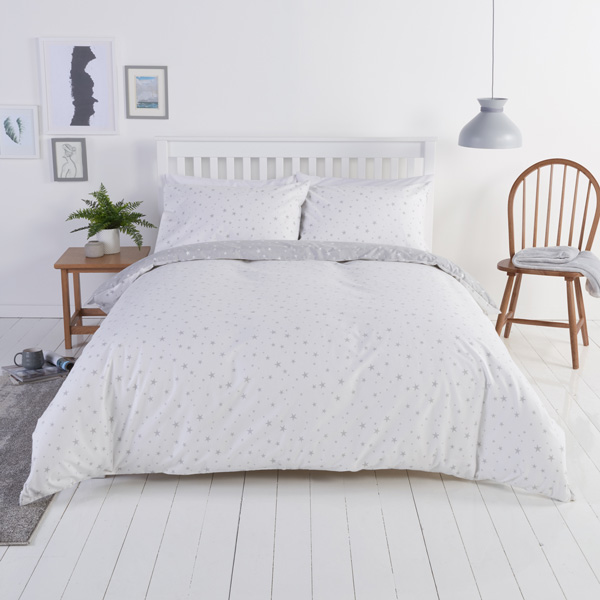 feb754c1562c Close Image for Sainsbury's Home Star Print Brushed Cotton Bed Linen from  Sainsbury's
