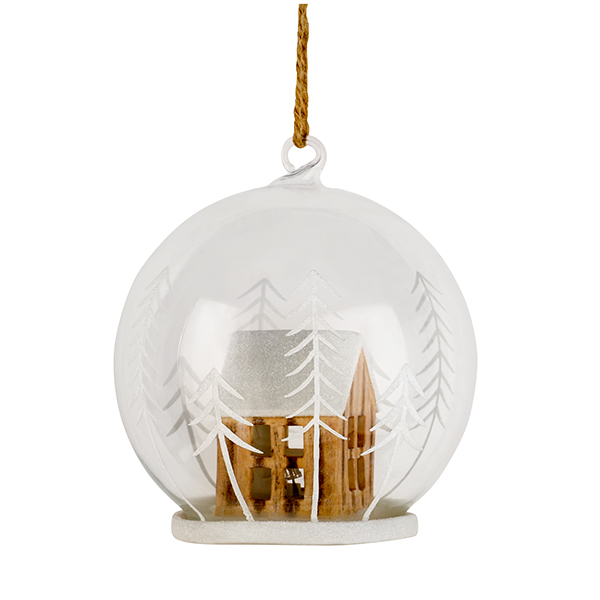 Sainsburys Home Winters Cabin Light Up House Bauble