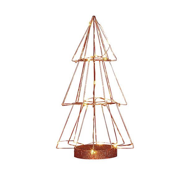 Sainsburys Home Christmas Noir Copper Light Up Tree