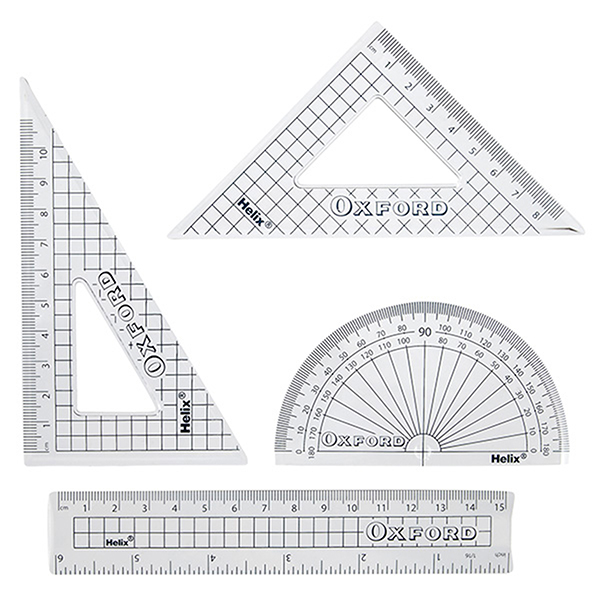 3 Helix Oxford 15cm Metric Imperial Ruler